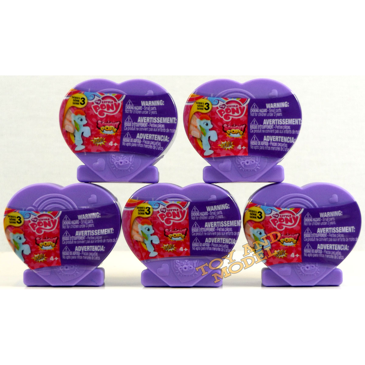 Case Of Squishy Pops : 5 Pack of My Little Pony Squishy Pops Heart Case Series 3 - Fast Dispatch 4Yrs+ eBay