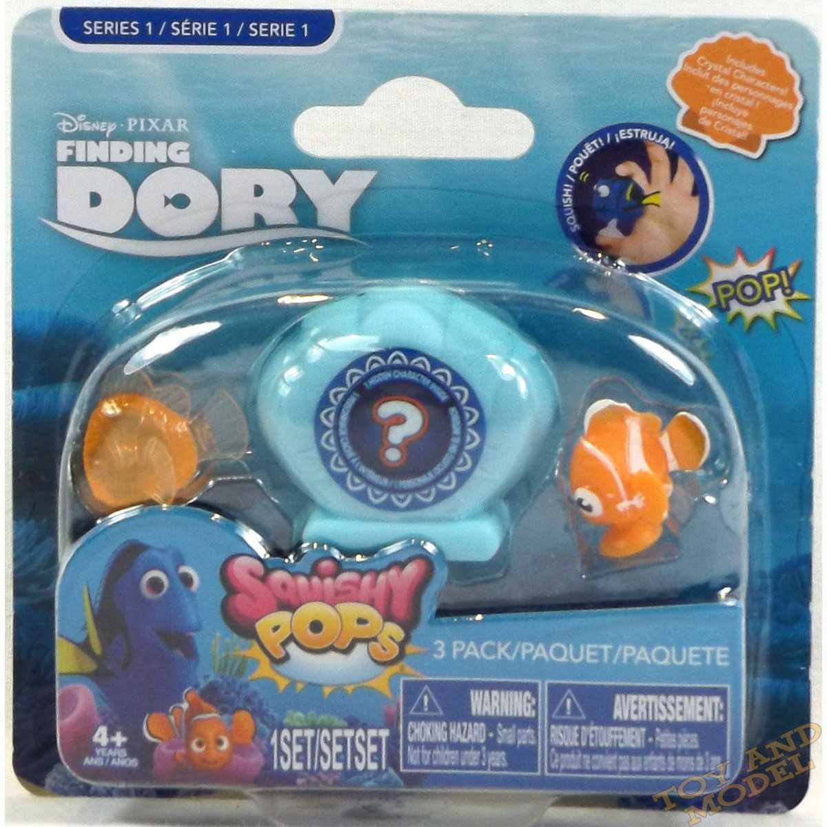 Squishy Toys Pack : Finding Dory Squishy Pops 3 Pack on Card (includes 1 Shell) UK Seller 4 Yrs+NEW eBay