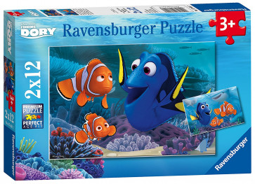 Finding Dory 2 x 12 pc jigsaw puzzle