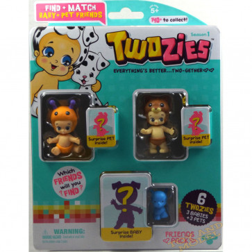 Twozies Friends Pack inc. Stingz and Happy