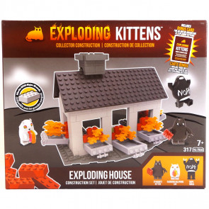 Exploding Kittens Buildable Scene Set - Exploding House
