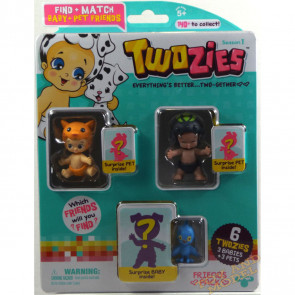 Twozies Friends Pack inc. Speedie and Rattles