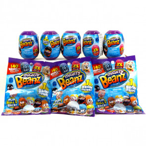 Mighty Beanz 2-Pack x 5 & 3 FREE Blind Bags Random Pick