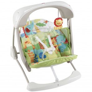 Fisher Price 2 in 1 Take Along Swing & Seat Rainforest Friends
