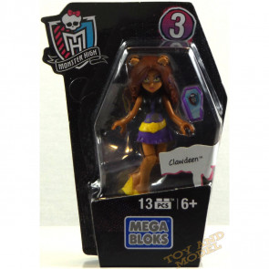 Mega Bloks Monster High Ghouls Skullection Clawdeen Mini Figure