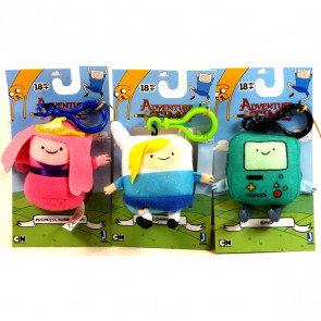 Adventure Time Plush Bag Clips - Set of 3