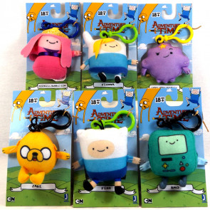 Adventure Time Plush Bag Clips - Set of 6