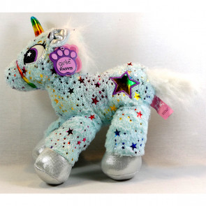 "Girlie Paws 13"" Sparklestar Unicorn Plush Soft Toy - Teal"